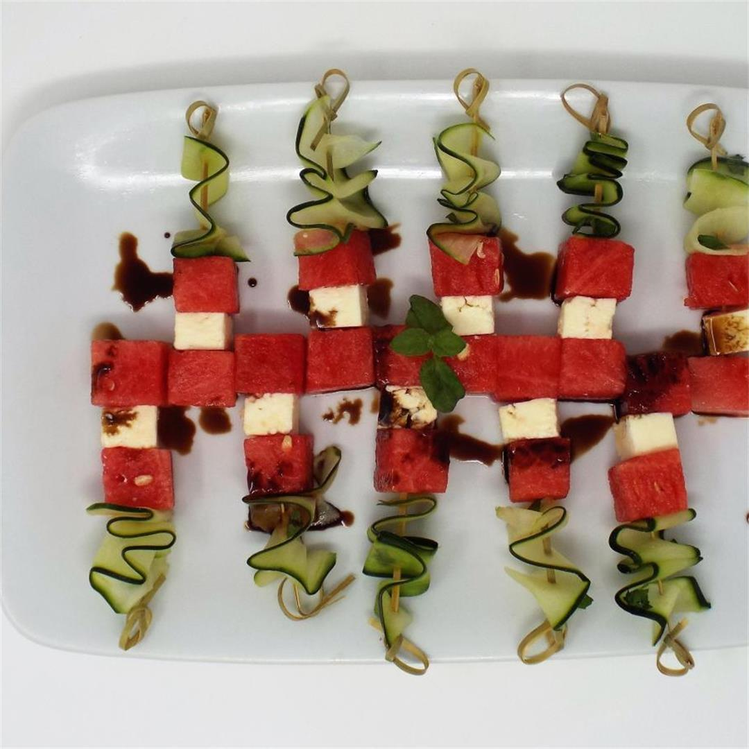 Watermelon and Feta Skewers