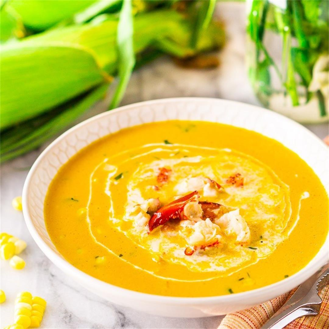 Herbed Summer Lobster and Corn Chowder