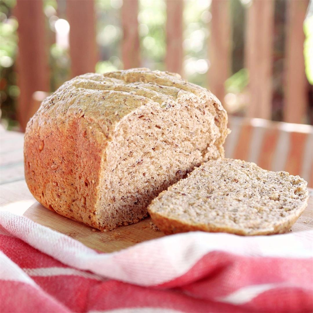 Half Wholemeal Seeded Bread in Breadmaker