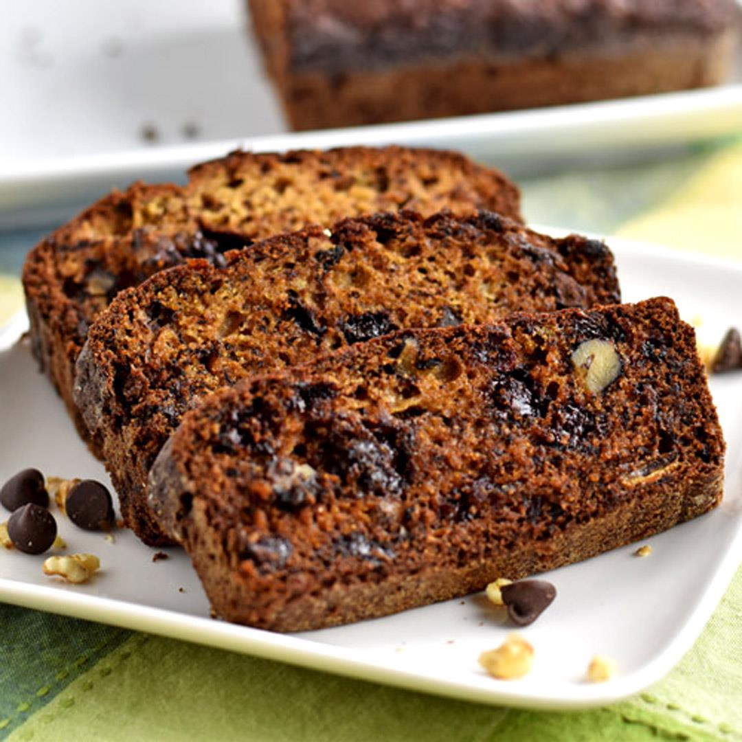 Gluten Free Chocolate Chip and Walnut Banana Bread