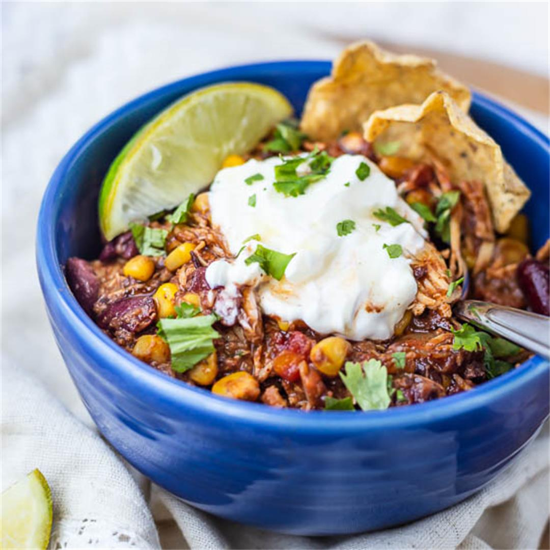 Slow Cooker Mesquite Chicken Chili