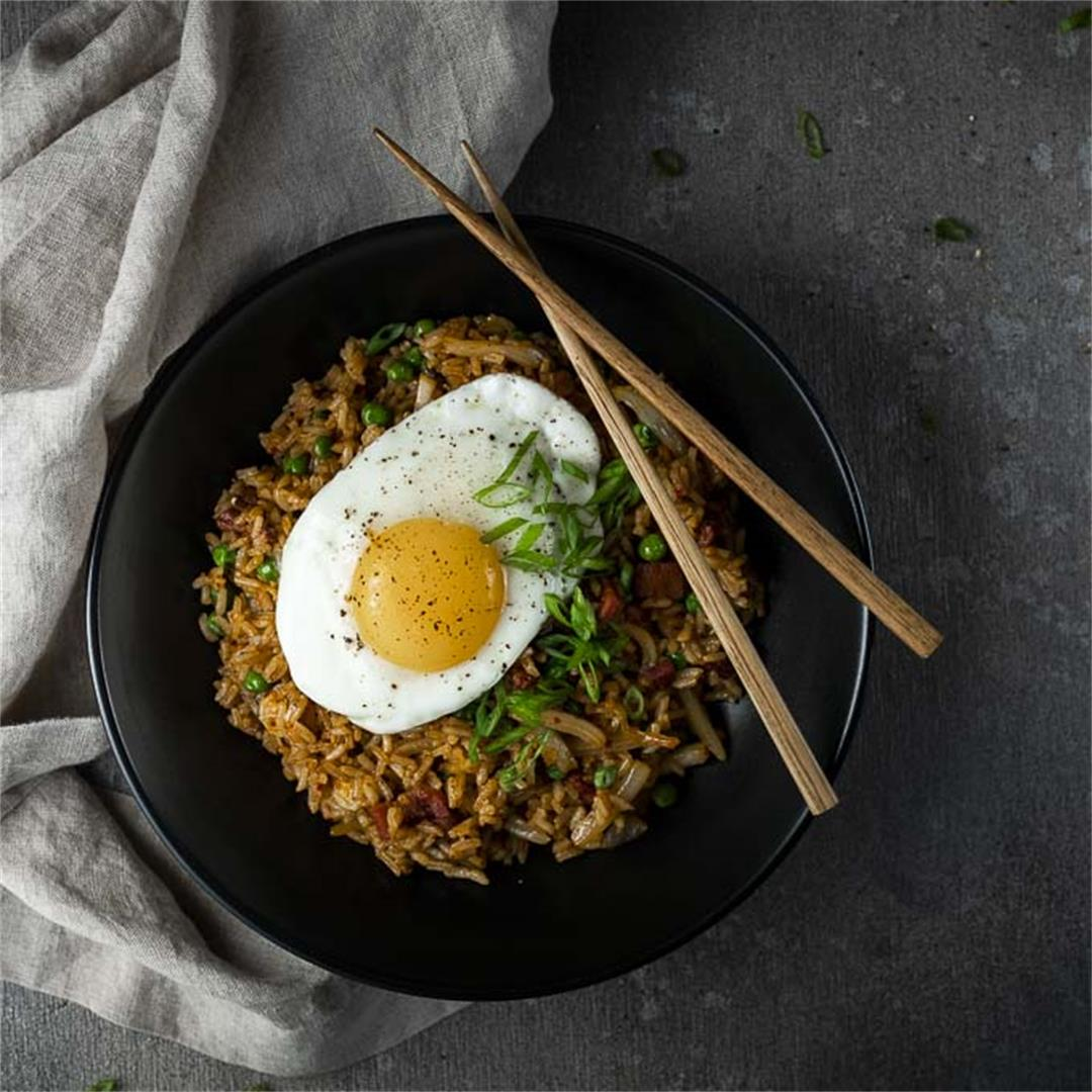 Kimchi Fried Rice Recipe (Korean Fried Rice)