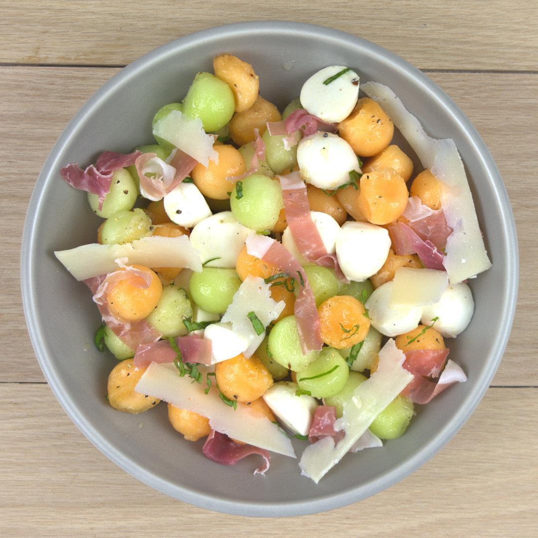 Melon Cantaloupe Prosciutto Salad – A Gourmet Food Blog