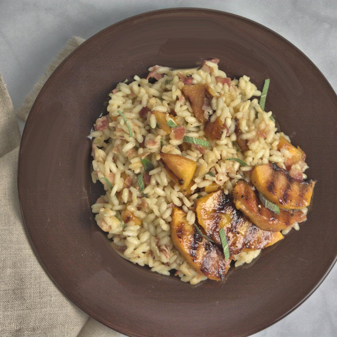 Roasted Peach Risotto – A Gourmet Food Blog