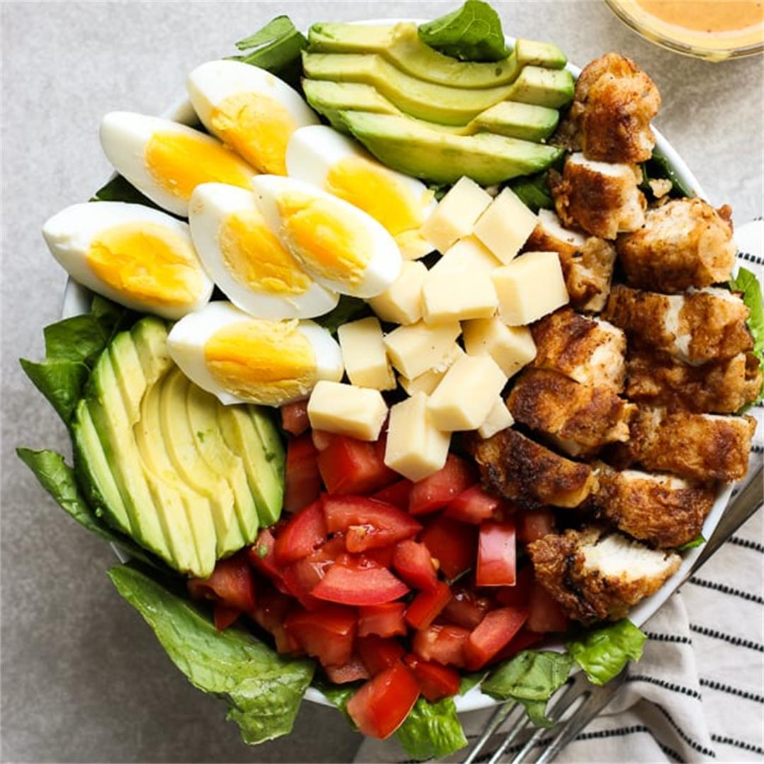 Crispy Chicken Salad with Honey Mustard BBQ Dressing