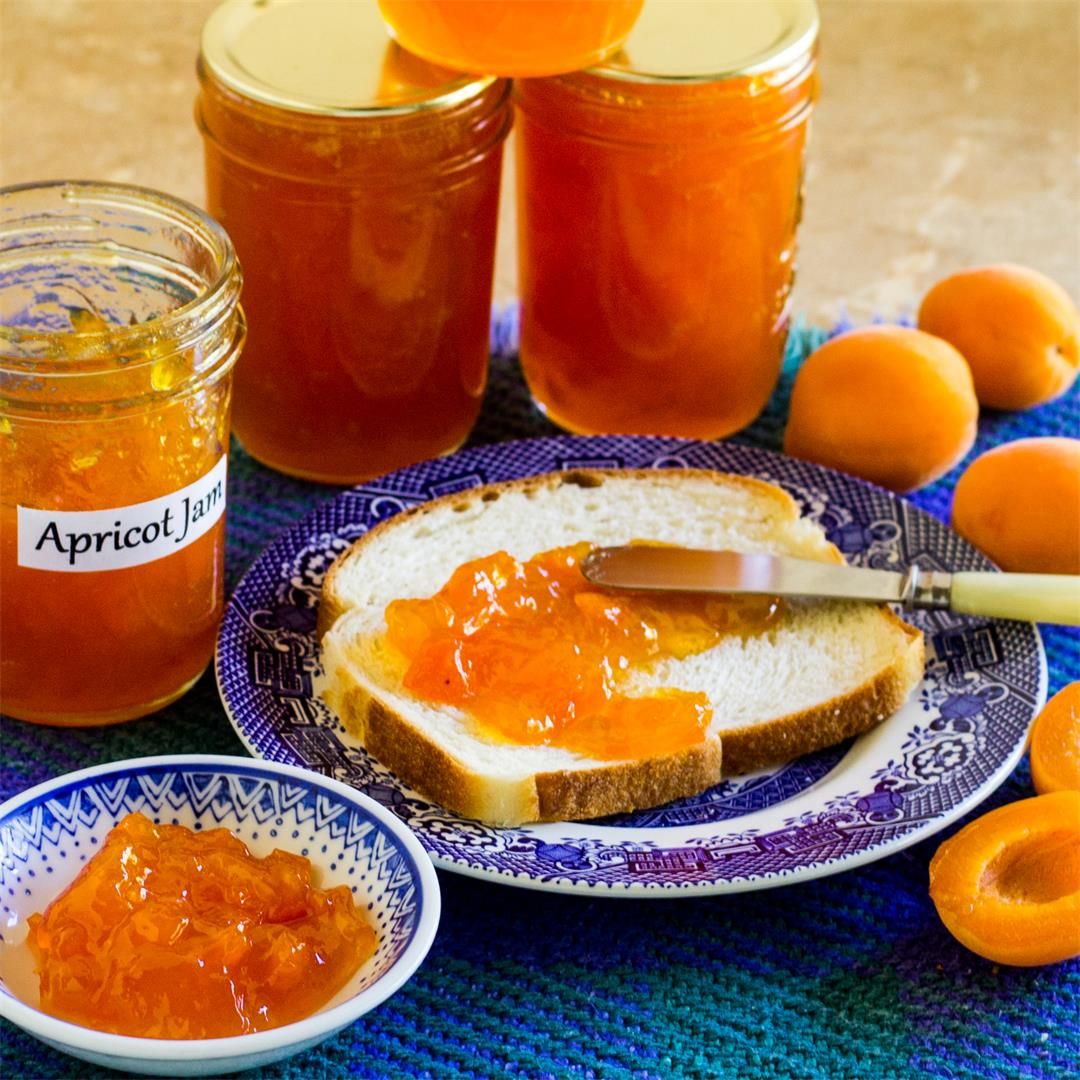 Homemade Fresh Apricot Jam with Pectin and Less Sugar