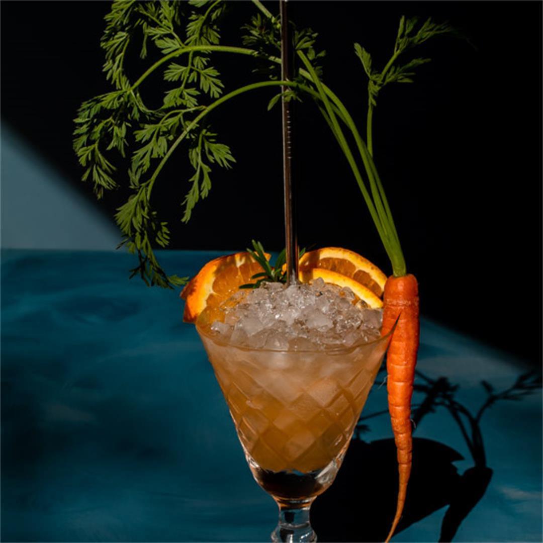 Carrot shrub daisy cocktail