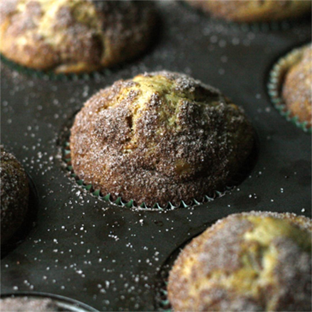 Cinnamon-Topped Carrot Raisin Muffins
