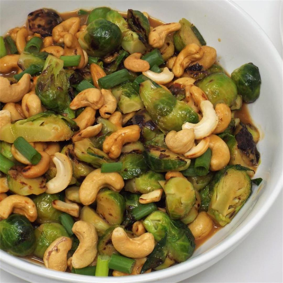 Cashew Brussels Sprouts