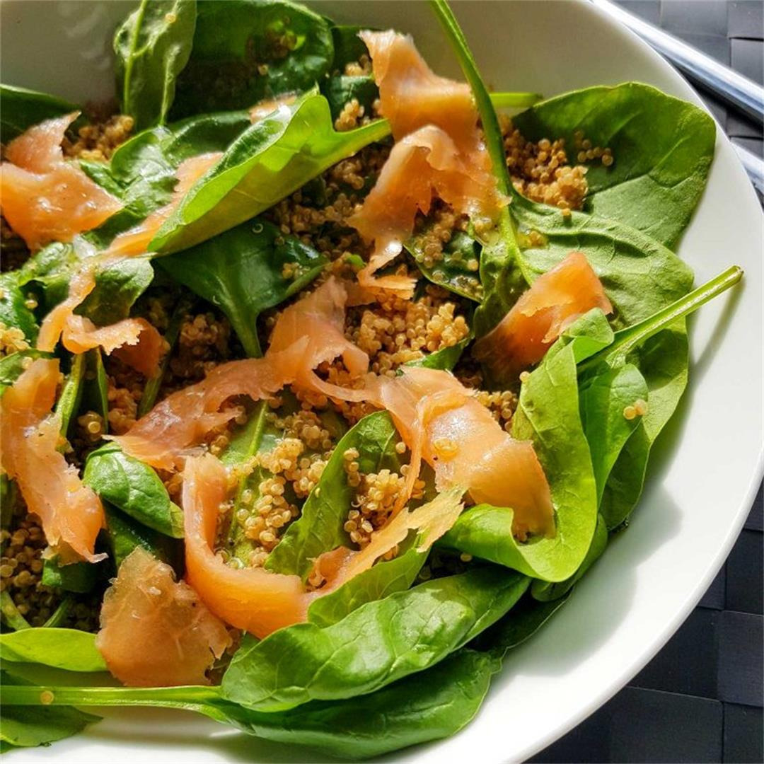 Smoked salmon and quinoa salad