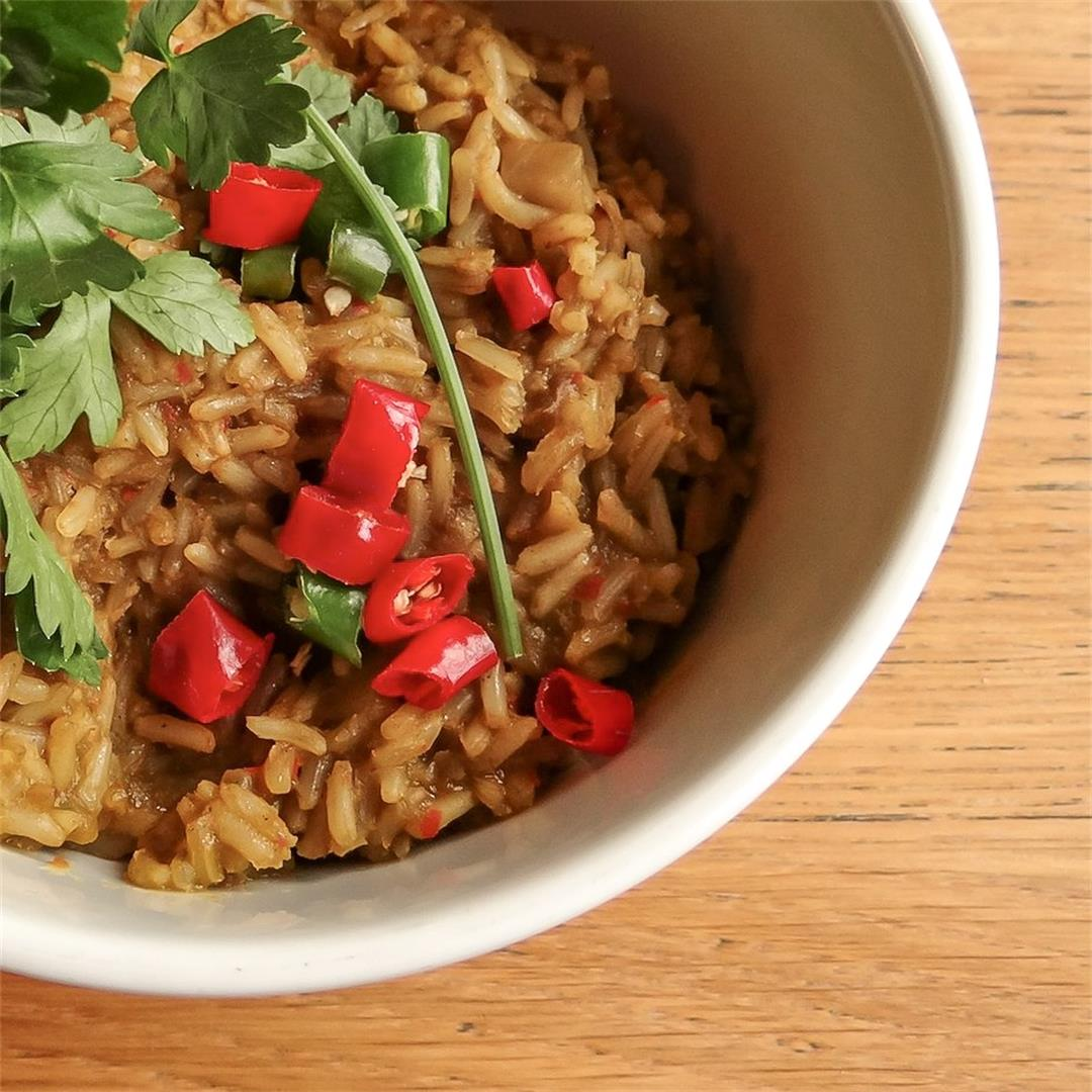 High-protein Mexican spicy rice