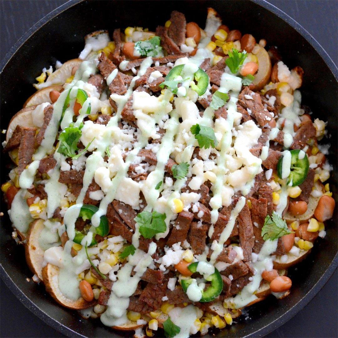 Steak and Sweet Potato Nachos