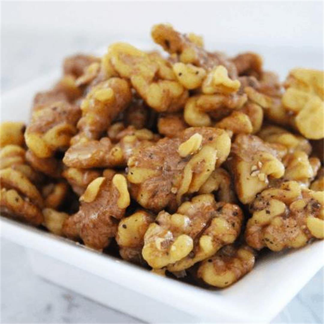 Salt and Pepper Roasted Walnuts - It's Not Complicated Recipes