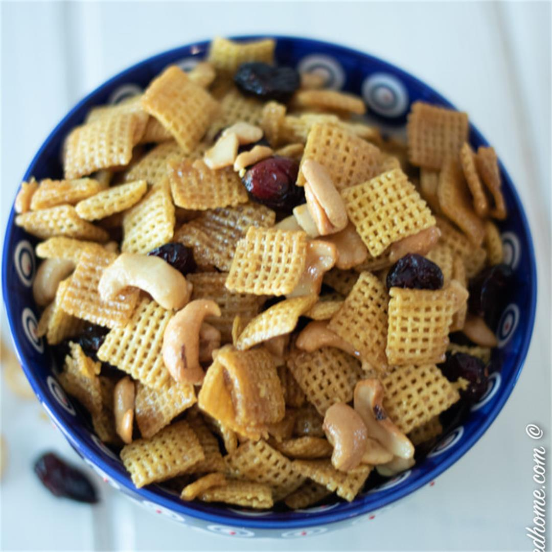 Orange Snack Mix with Dried Cranberries — The Buttered Home