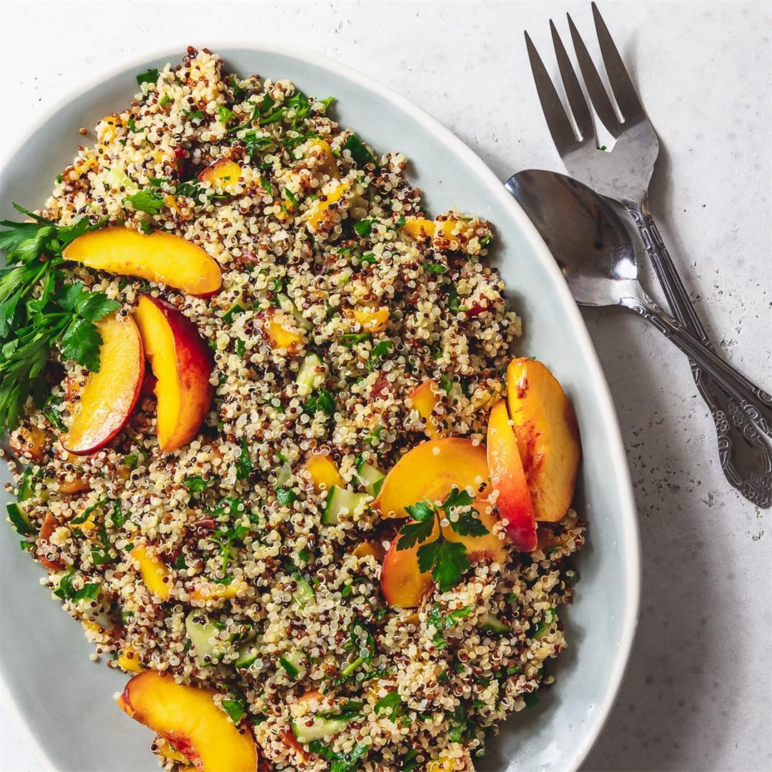Peach Quinoa Tabbouleh