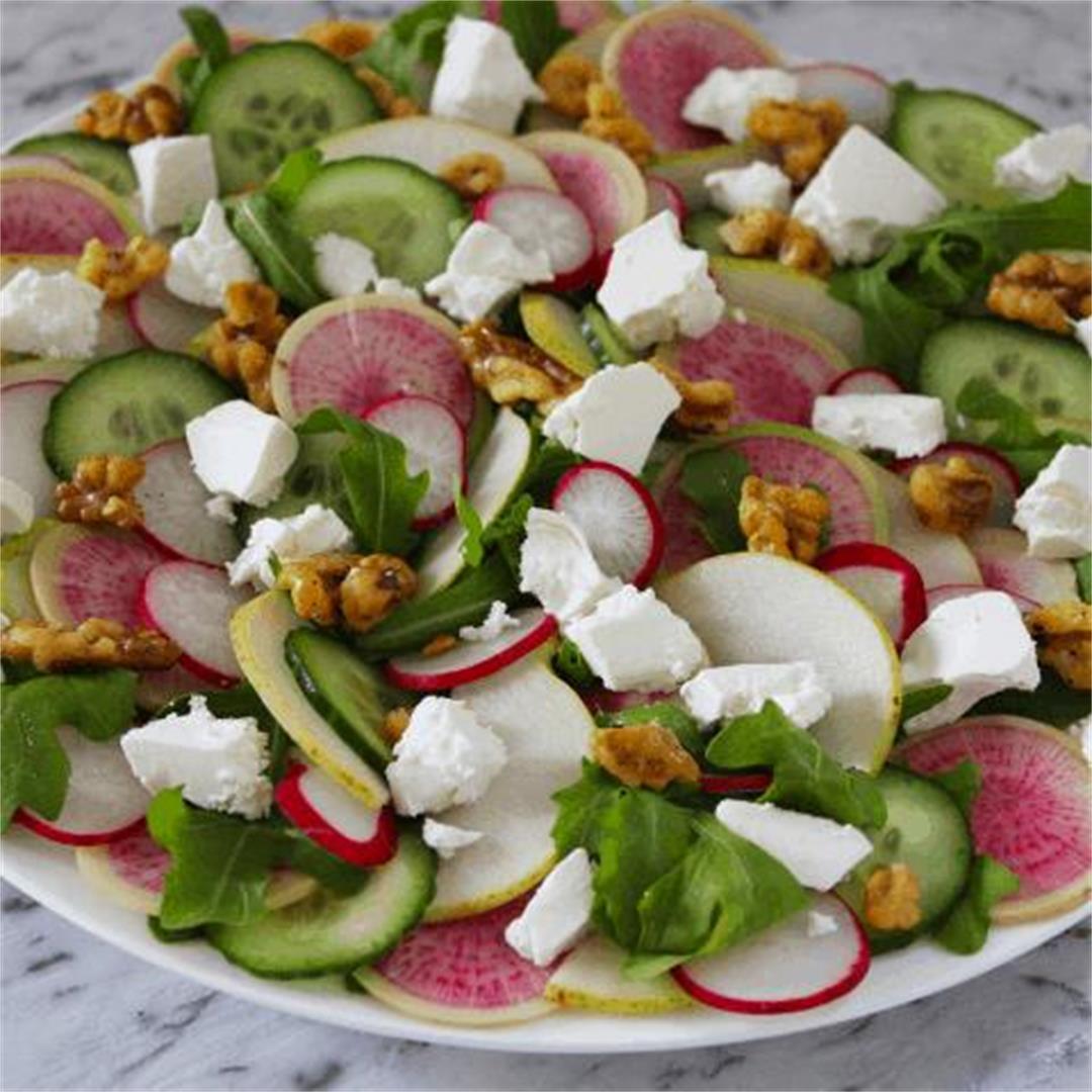 Radish, Feta and Cucumber Salad - It's Not Complicated Recipes