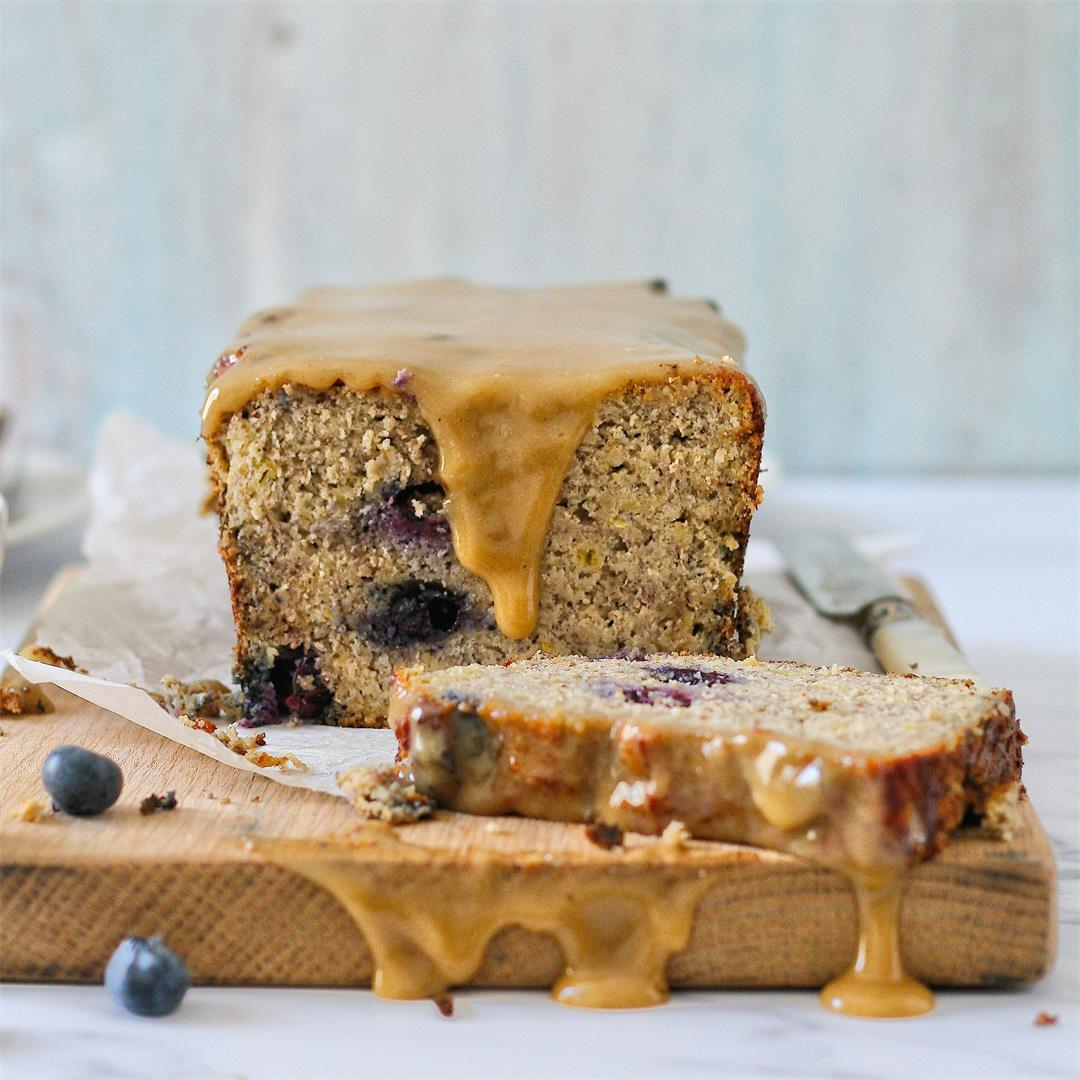 Banana, blueberry and lemon loaf