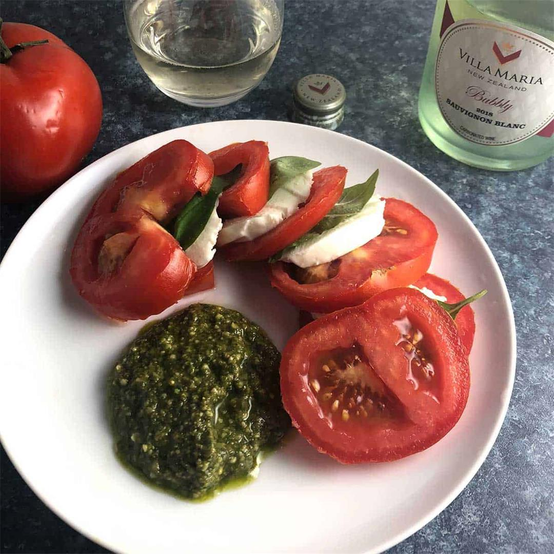 Tomato Caprese Salad with Pesto