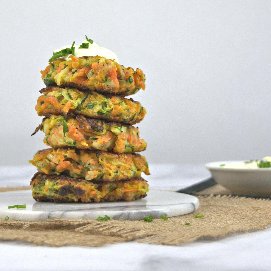 Zucchini Carrot Fritters – A Gourmet Food Blog