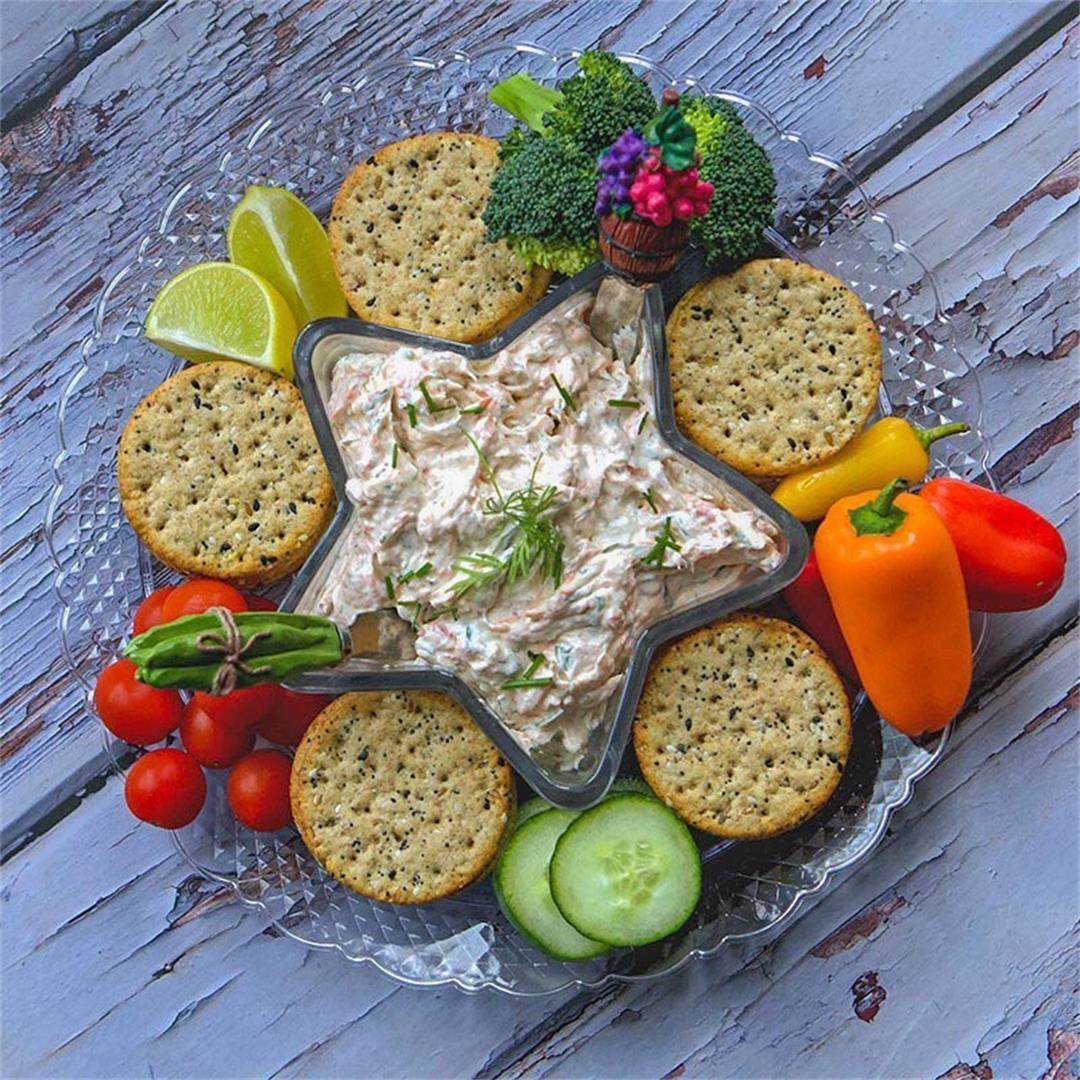 Smoked Salmon Dip Recipe (with cream cheese)