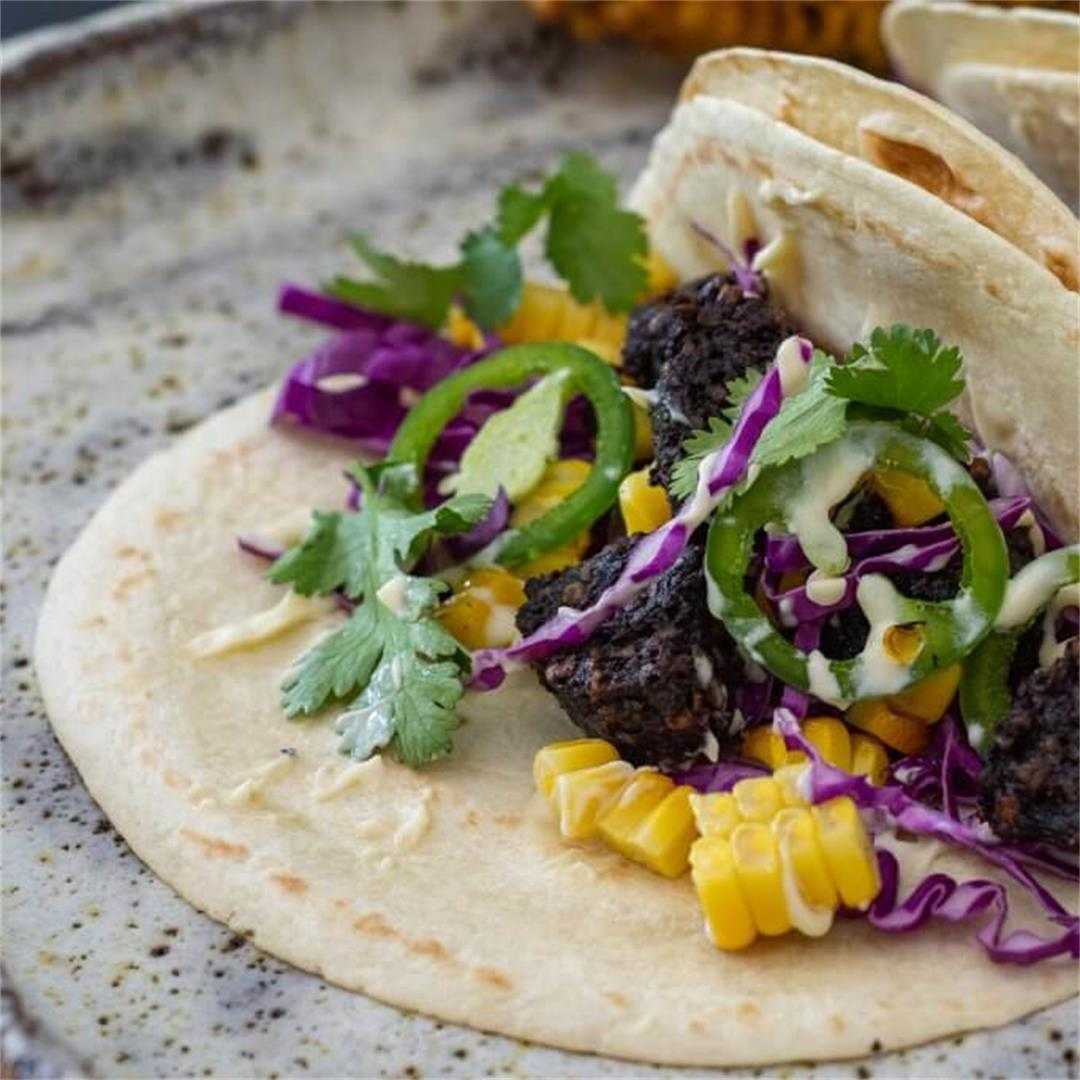 Black Pudding Tacos
