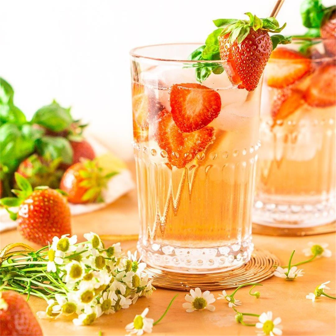 Strawberry-Basil Tom Collins