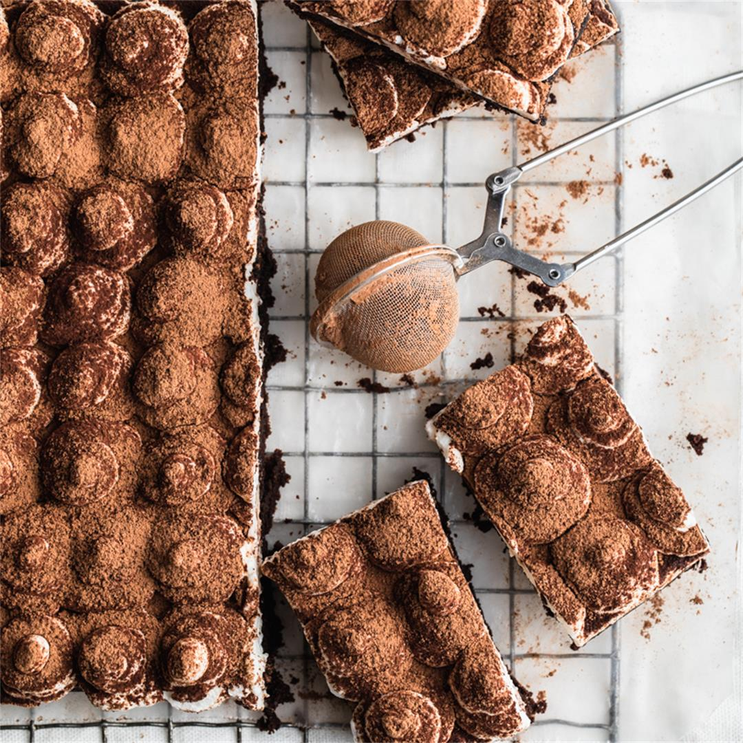 Gluten Free Tiramisu Brownies