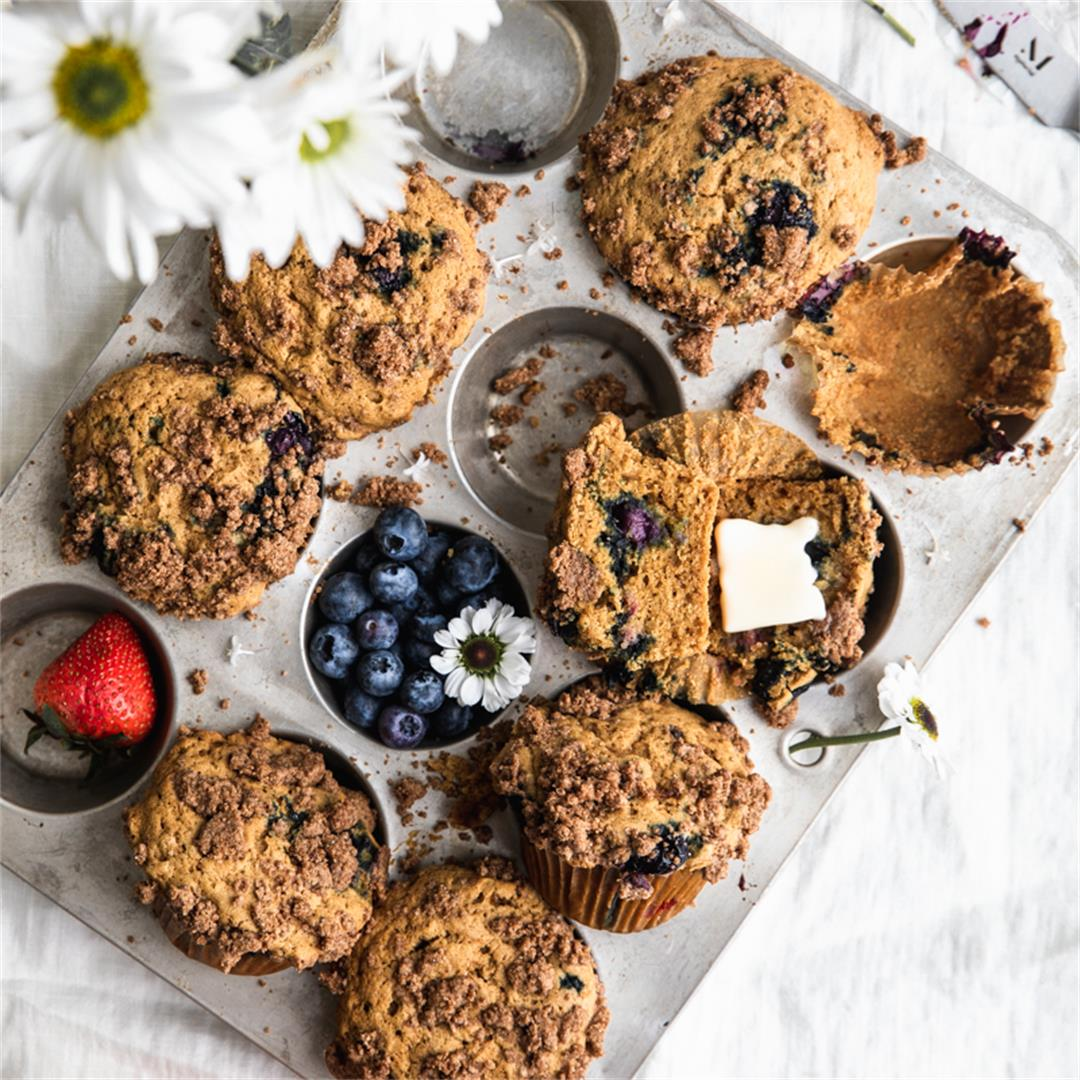 Gluten Free Blueberry Muffins andStreusel