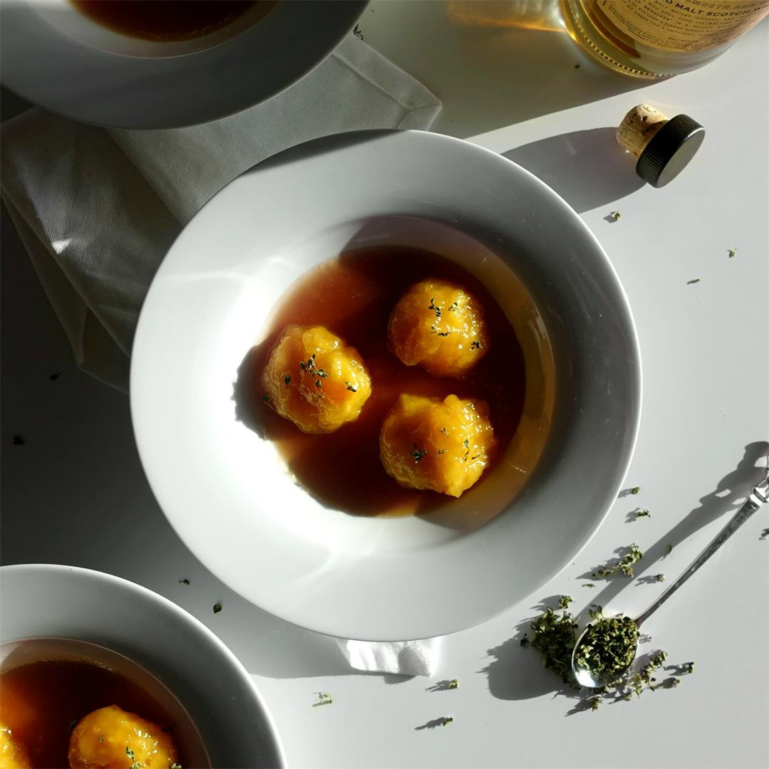 Whisky Marmalade and Thyme Dumplings