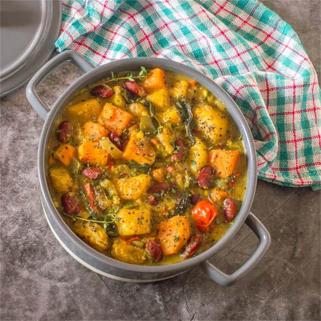 Vegan Caribbean plantain curry