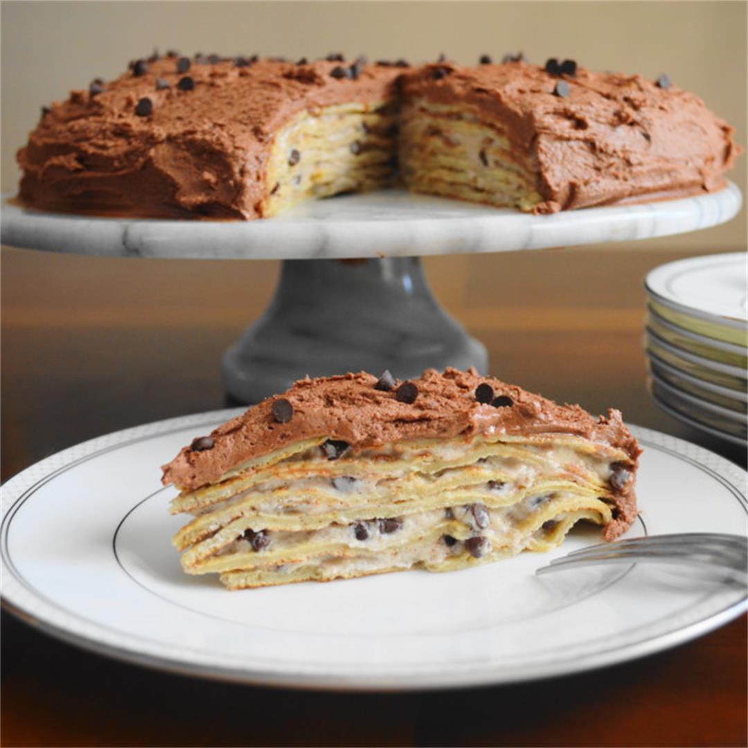 Cannoli Crepe Cake - Jeanie and Lulu's Kitchen