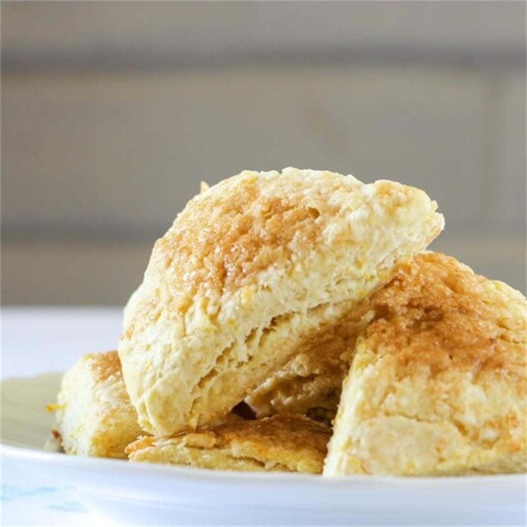 Orange Rosewater Scones