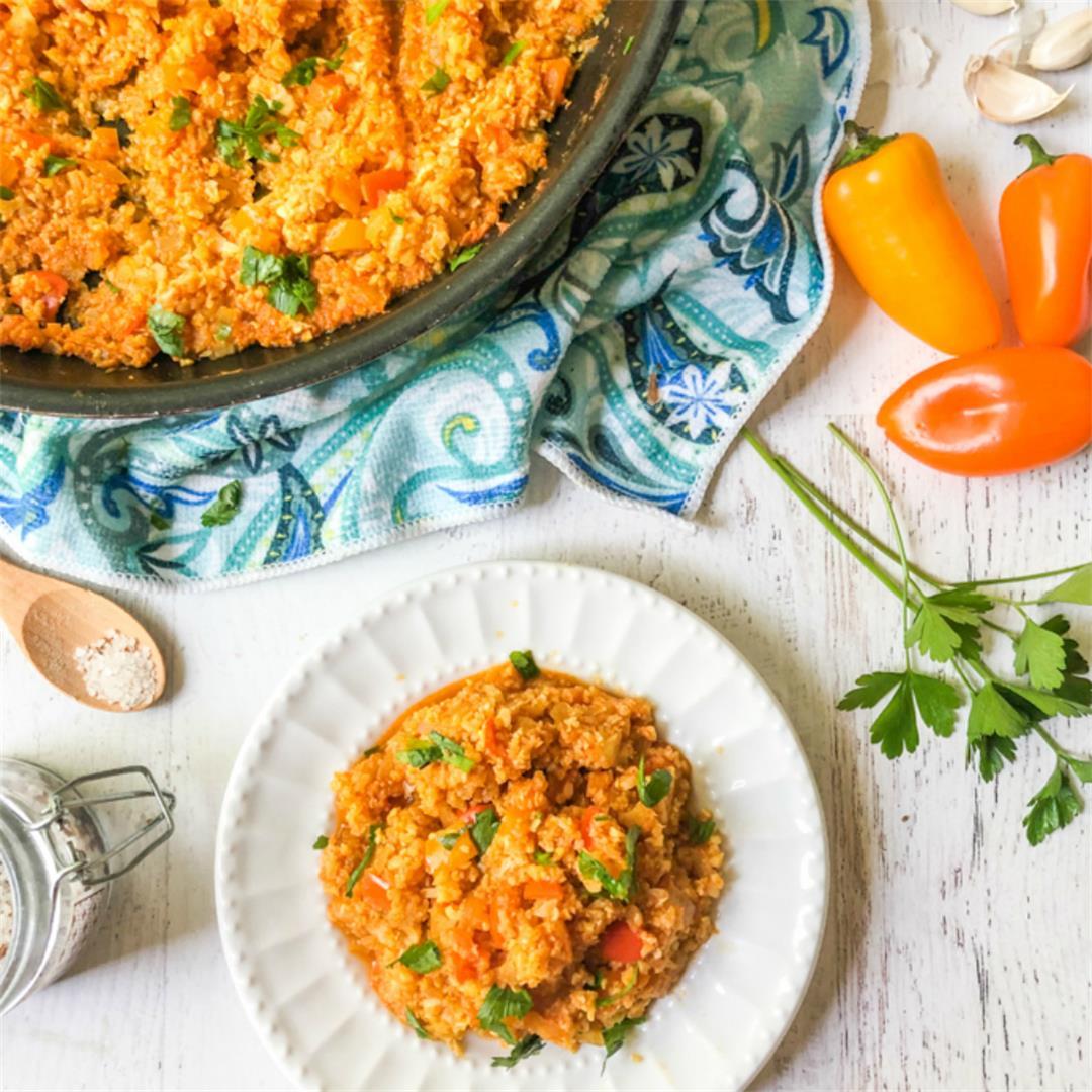 Low Carb Spanish Cauliflower Rice Recipe