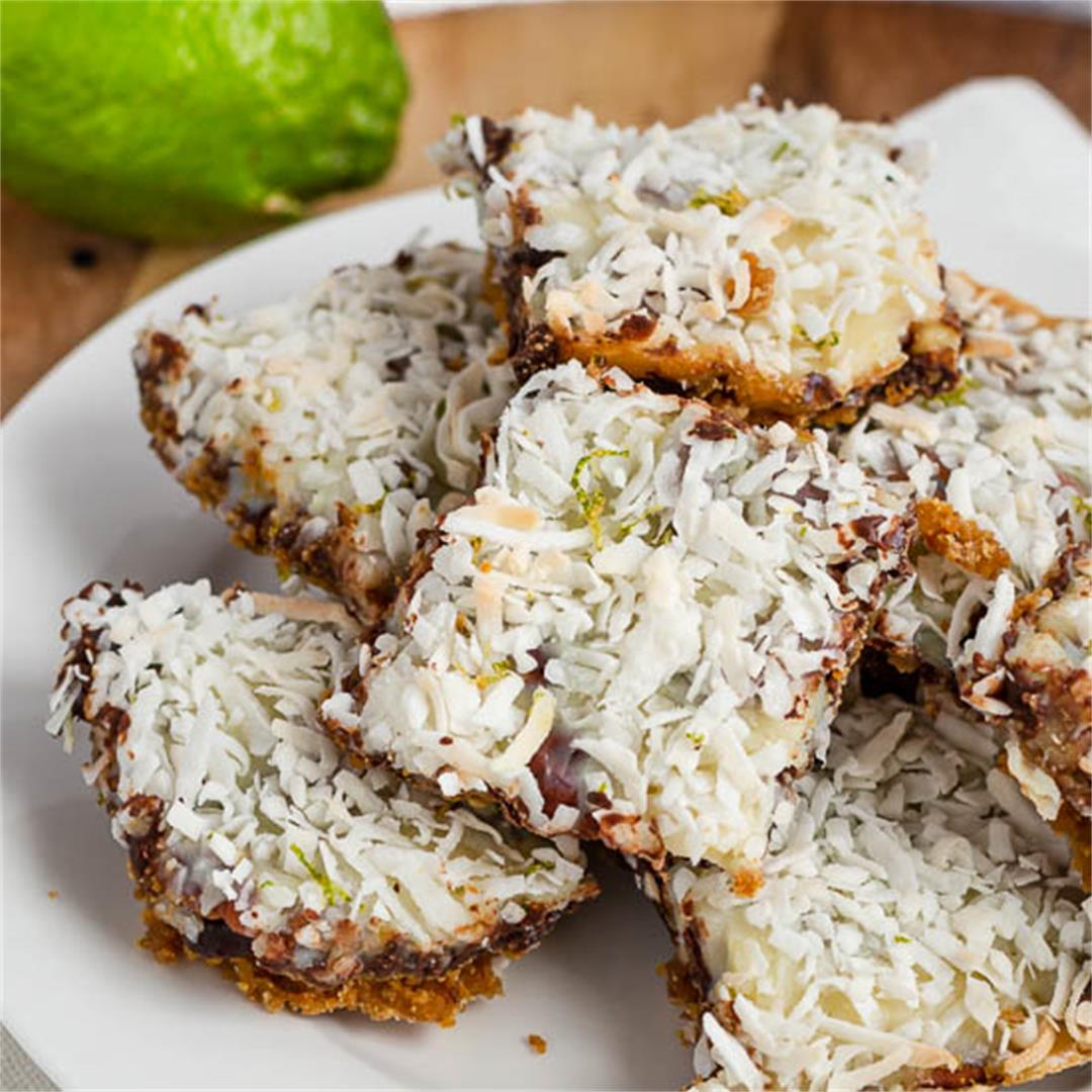 Chocolate Coconut Lime Bars
