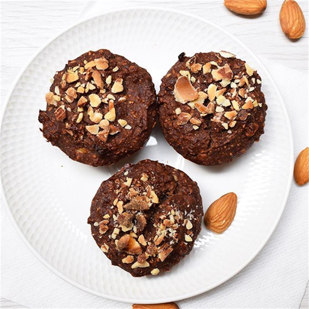 Vegan Chocolate Almond Quinoa Muffins