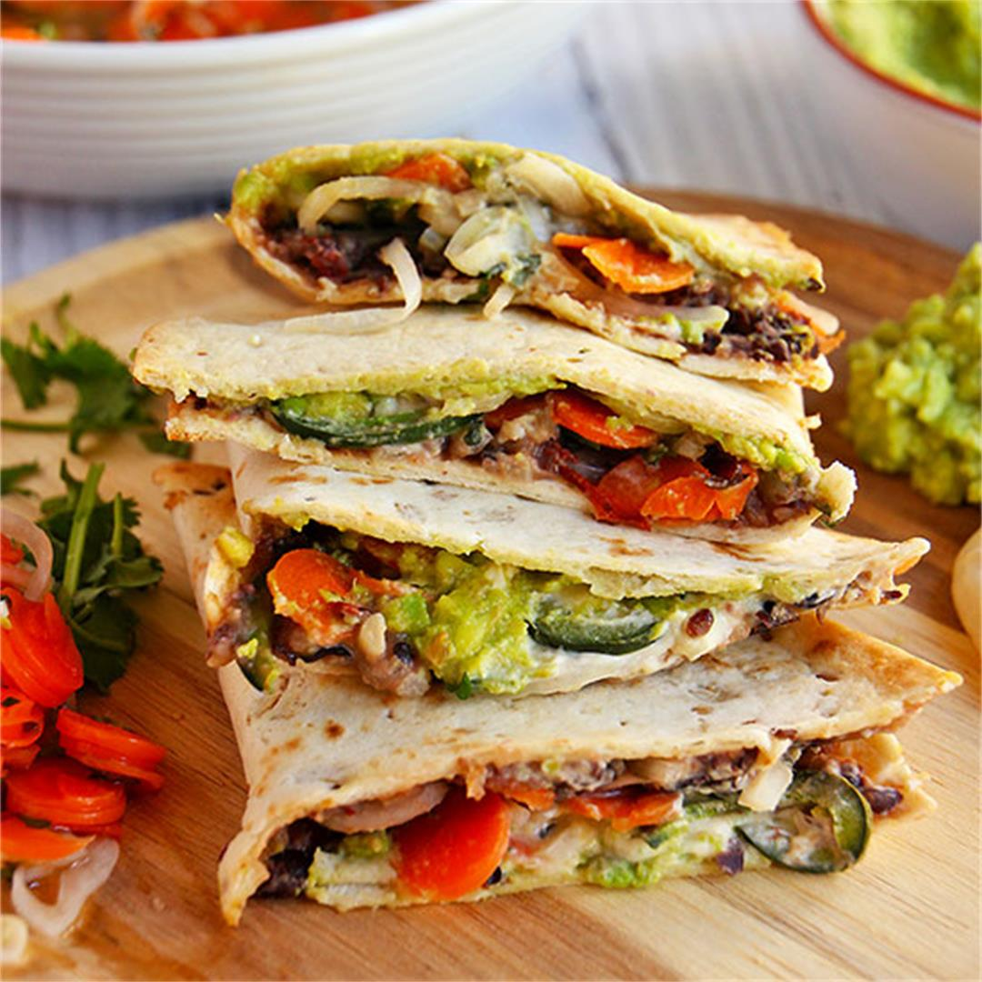 baked quesadillas with escabeche