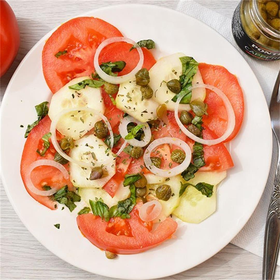 Quick Tomato & Cucumber Salad