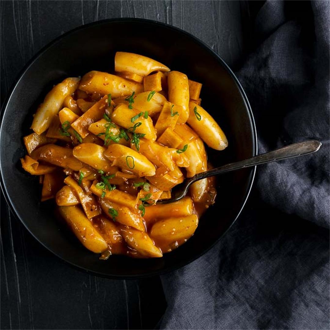 Korean Rice Cake Recipe (Tteokbokki Recipe)