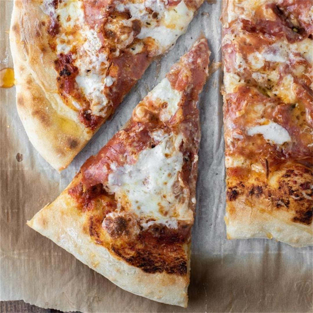 Hot Honey-Drizzled Salami Pizza