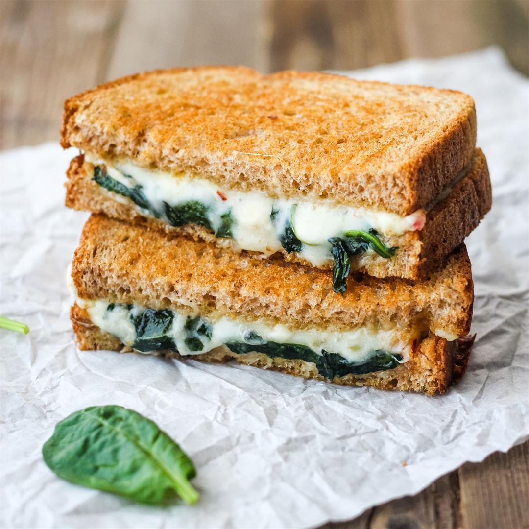 Toaster Oven Baked Grilled Cheese (Classic Style)