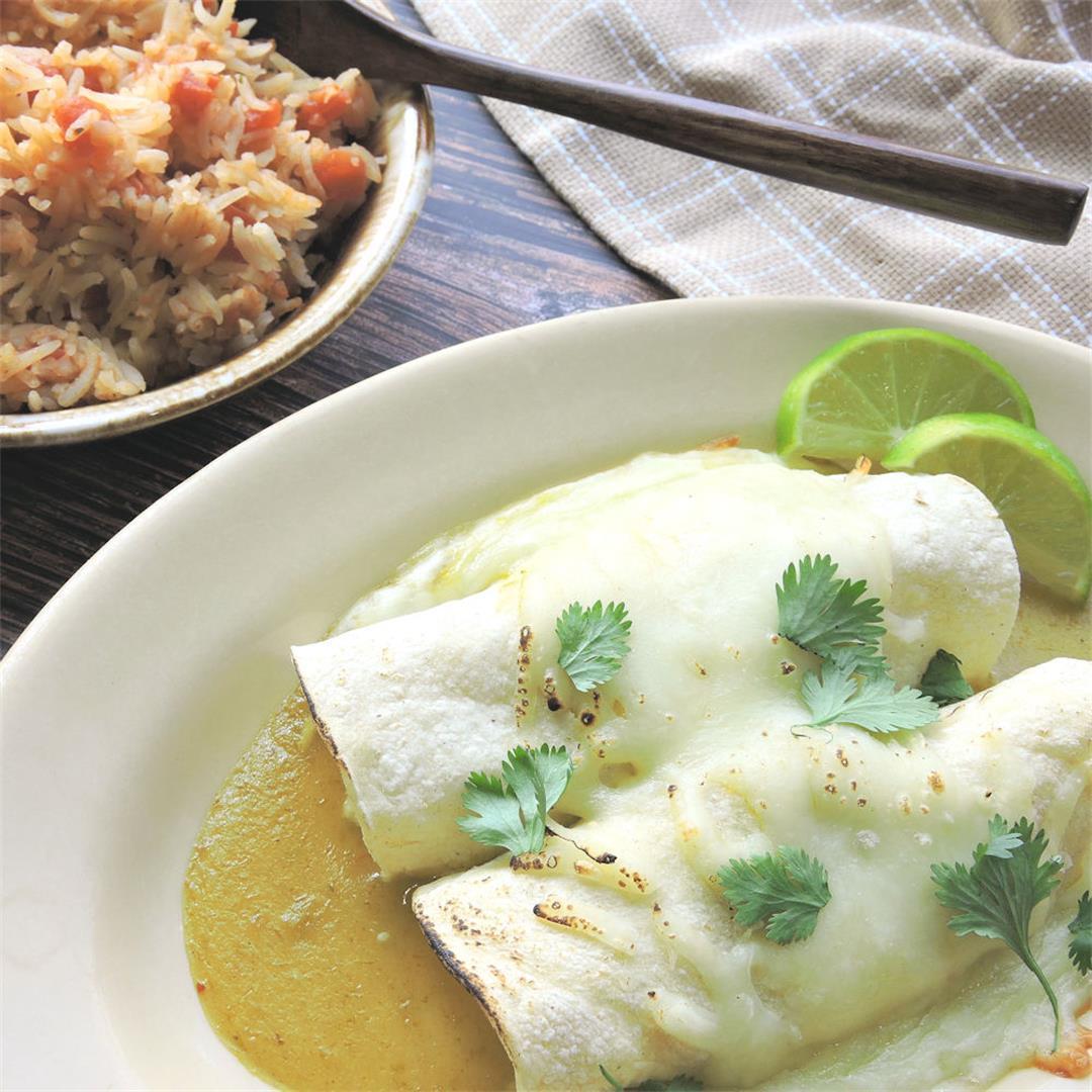 Green Chicken Enchiladas Recipe
