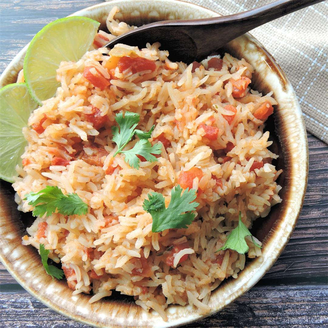 Spanish Rice with Tomatoes and Cilantro Recipe
