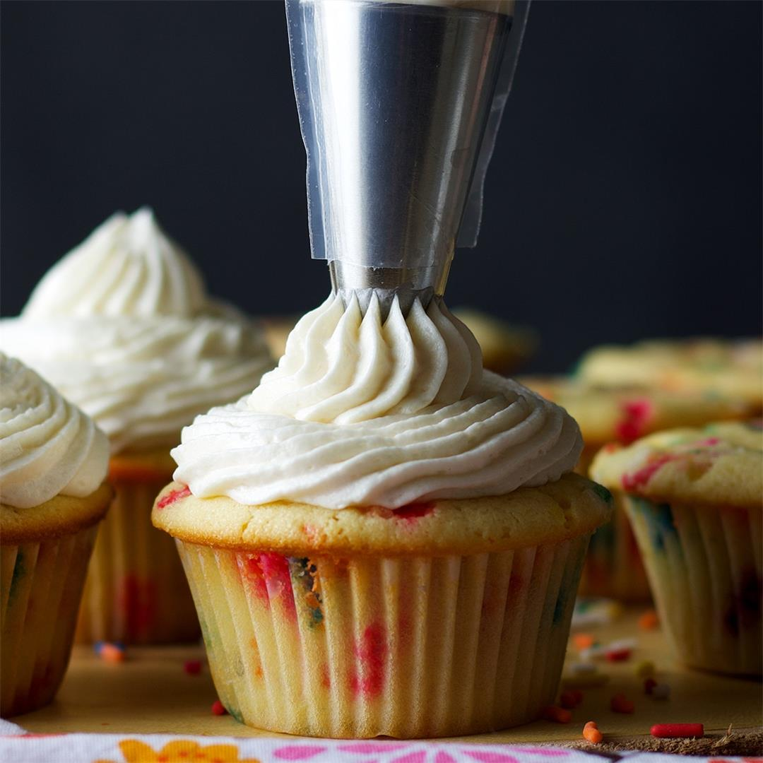 American Buttercream {with butter and heavy cream}