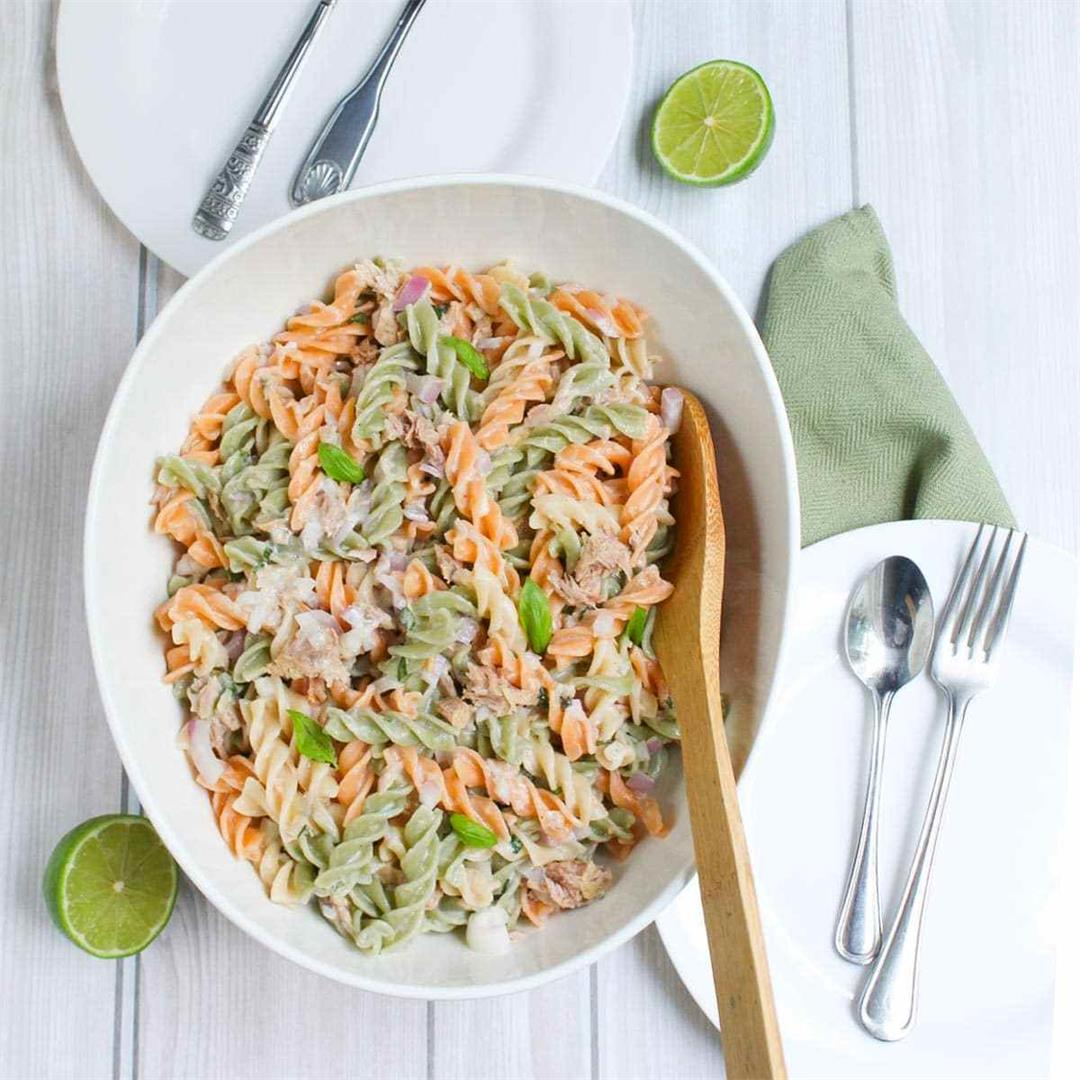 Pasta and Tuna Salad • A Scrumptious Bite