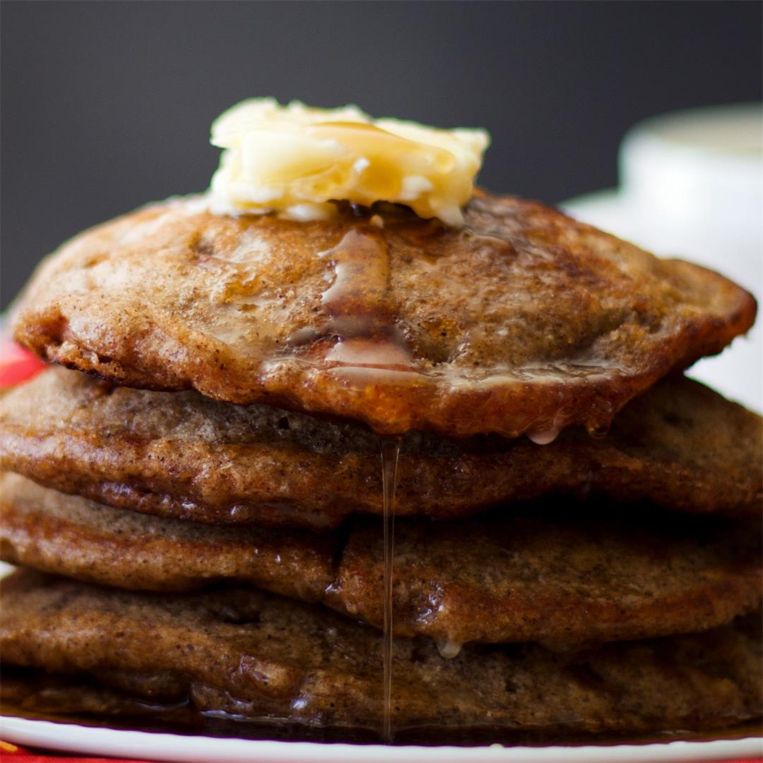 Apple Cinnamon Pancakes {Buttermilk and Brown Sugar Recipe}