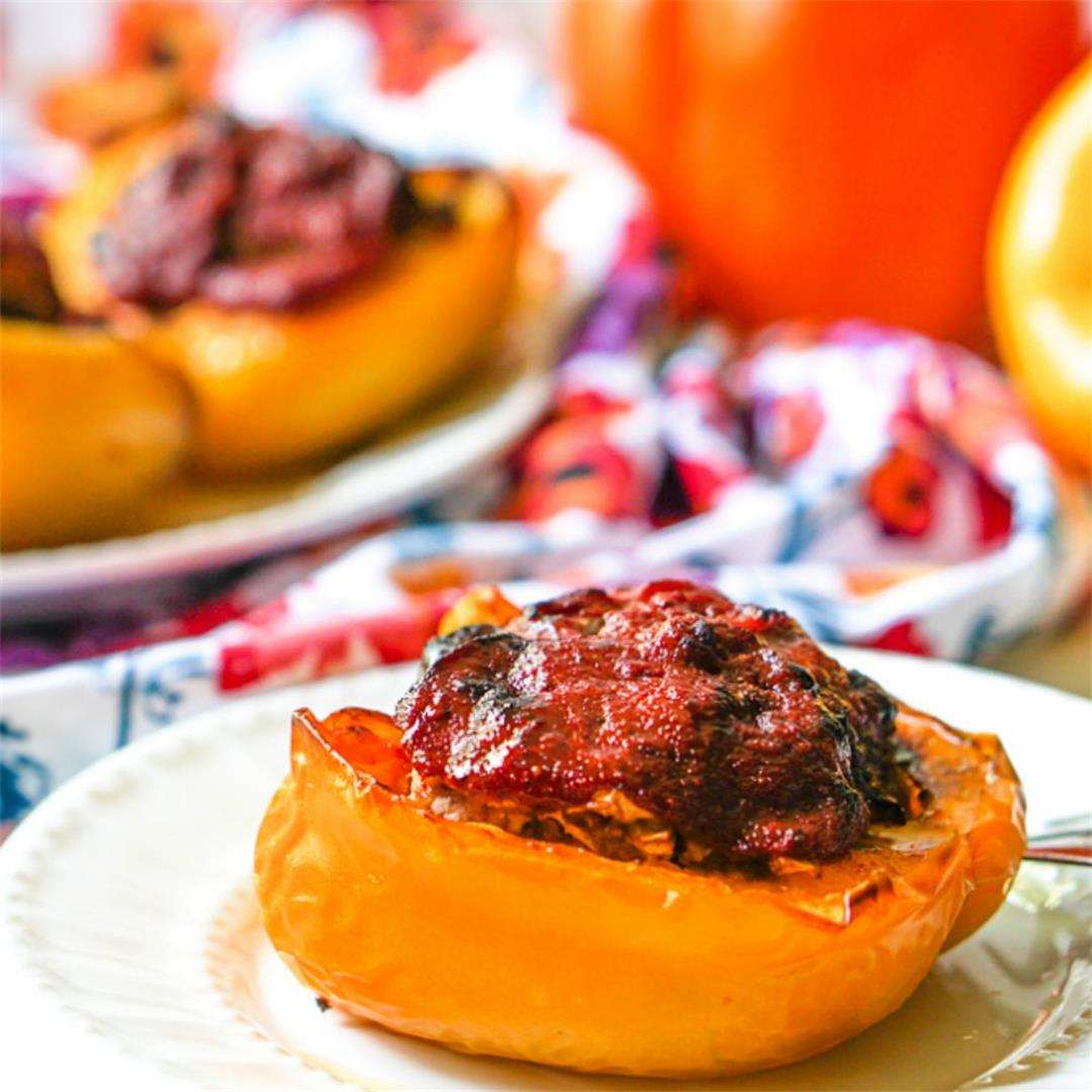 Easy Low Carb Stuffed Peppers in the Air Fryer or Oven