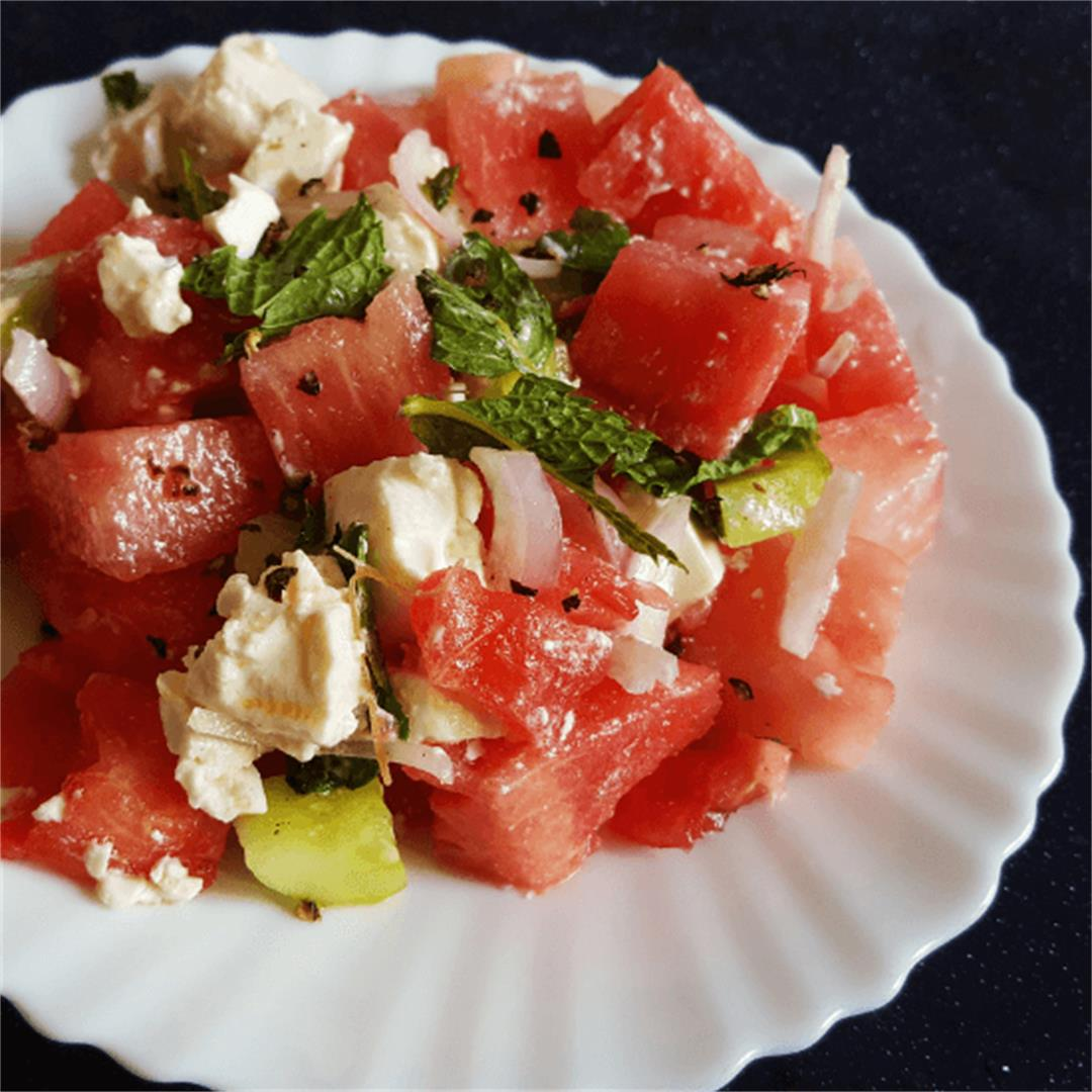 Greek Watermelon Salad
