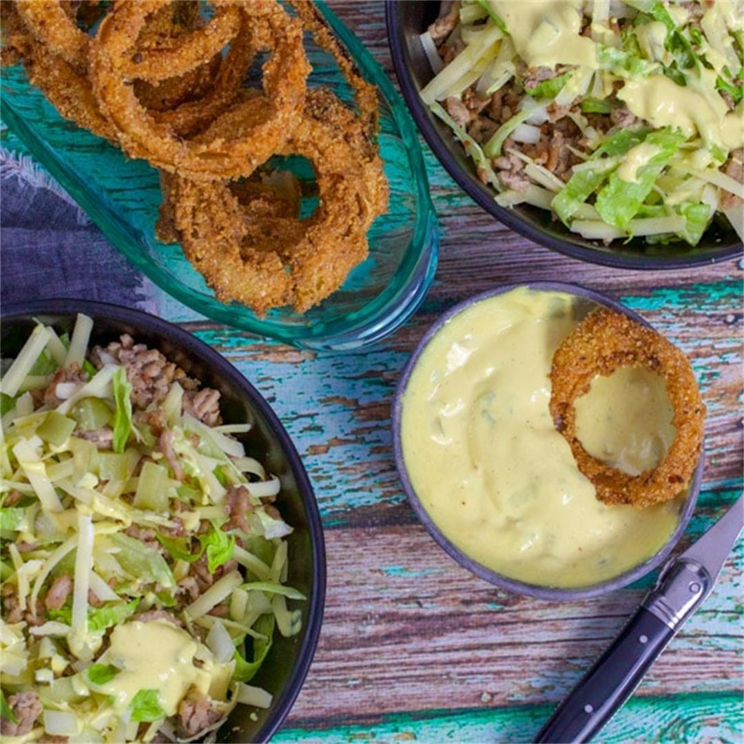 Keto Big Mac Salad Bowl