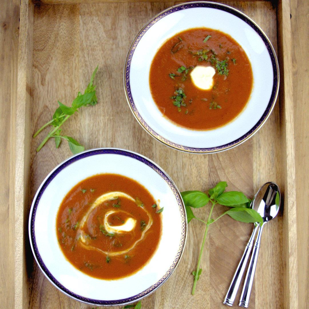Fresh Summer Tomato Soup – A Gourmet Food Blog