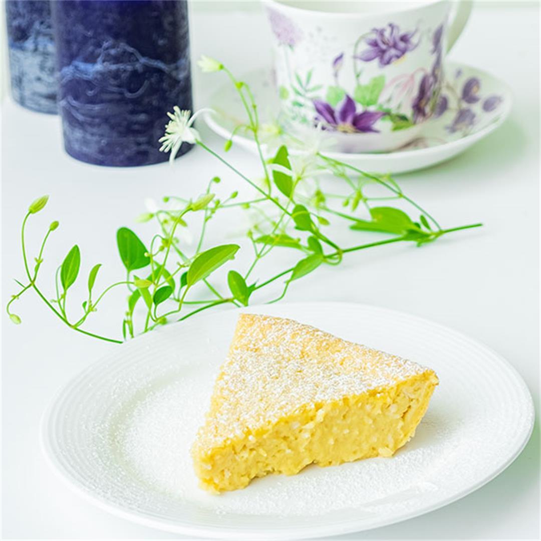 Gluten-Free Coconut Lemon Custard Pie